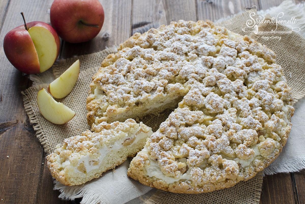 sbriciolata alle mele e ricotta ricetta dolce facile