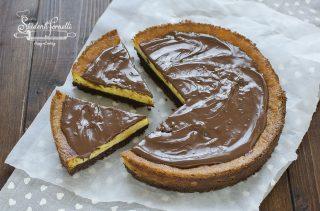 cheesecake mascarpone e nutella cotta in forno cremosa ricetta dolce