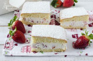 torta paradiso alle fragole crema al latte ricetta dolce
