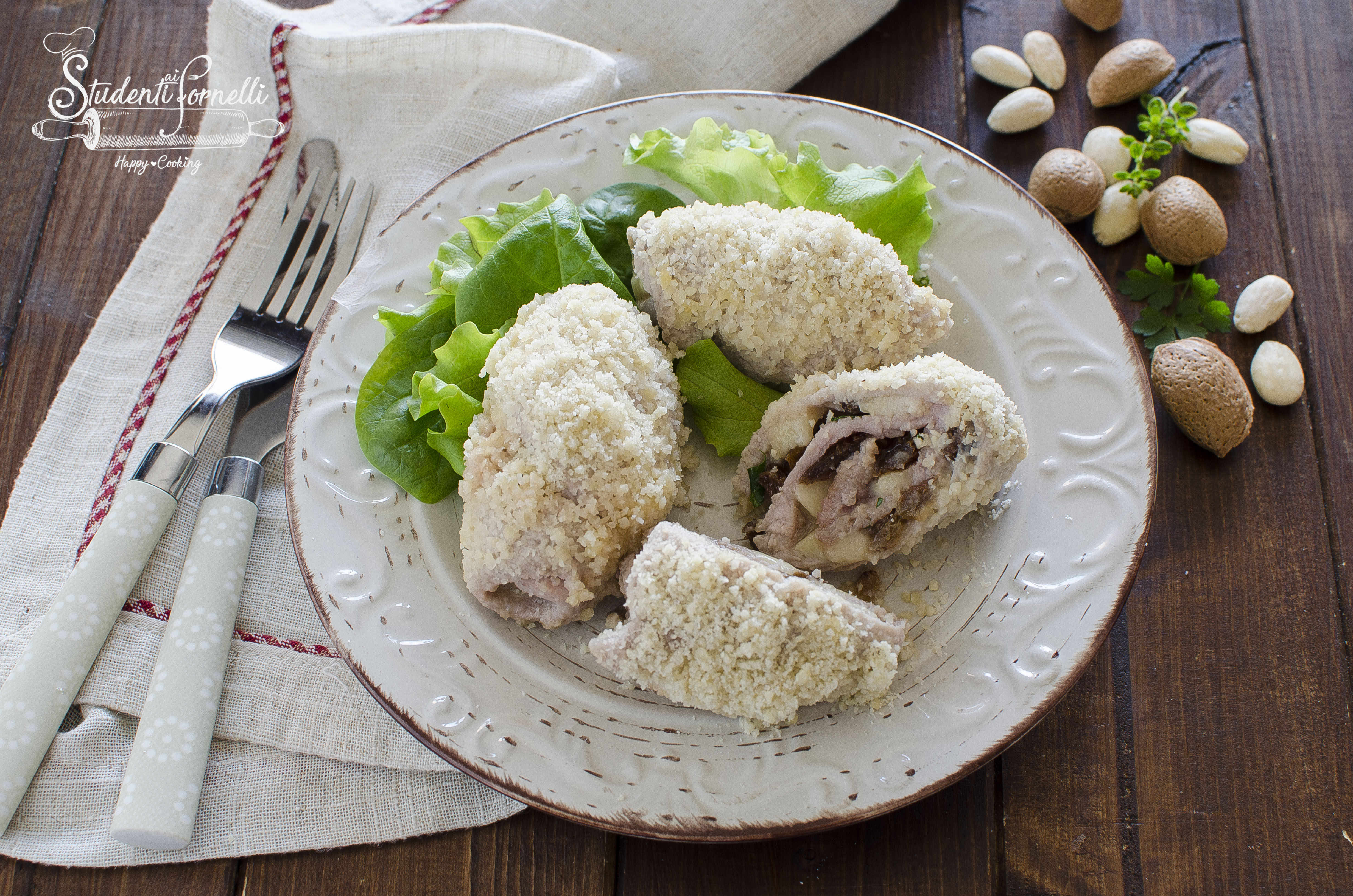 involtini di carne alle mandorle ricetta