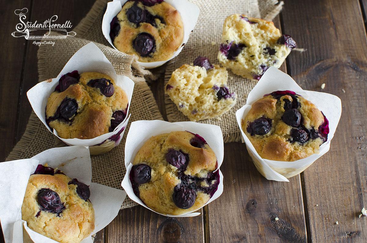 ricetta muffin ai mirtilli e yogurt senza glutine burro e latte ricetta dolce