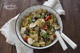 insalata di pasta fredda con verdure zucchine melanznae tonno ricetta primo