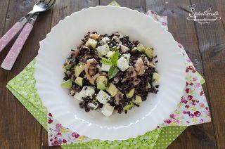 ricetta riso venere salmone e avocado ricetta con feta primo piatto