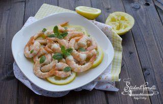 ricetta gamberi al limone marinati ricetta antipasto secondo estivo