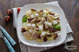 ricetta insalata di patate tonno pomodori secchi e tonno ricetta estiva