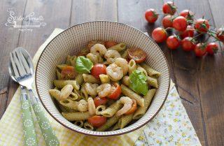 ricetta pasta fredda gamberetti e rucola pesto ricetta primo pestivo