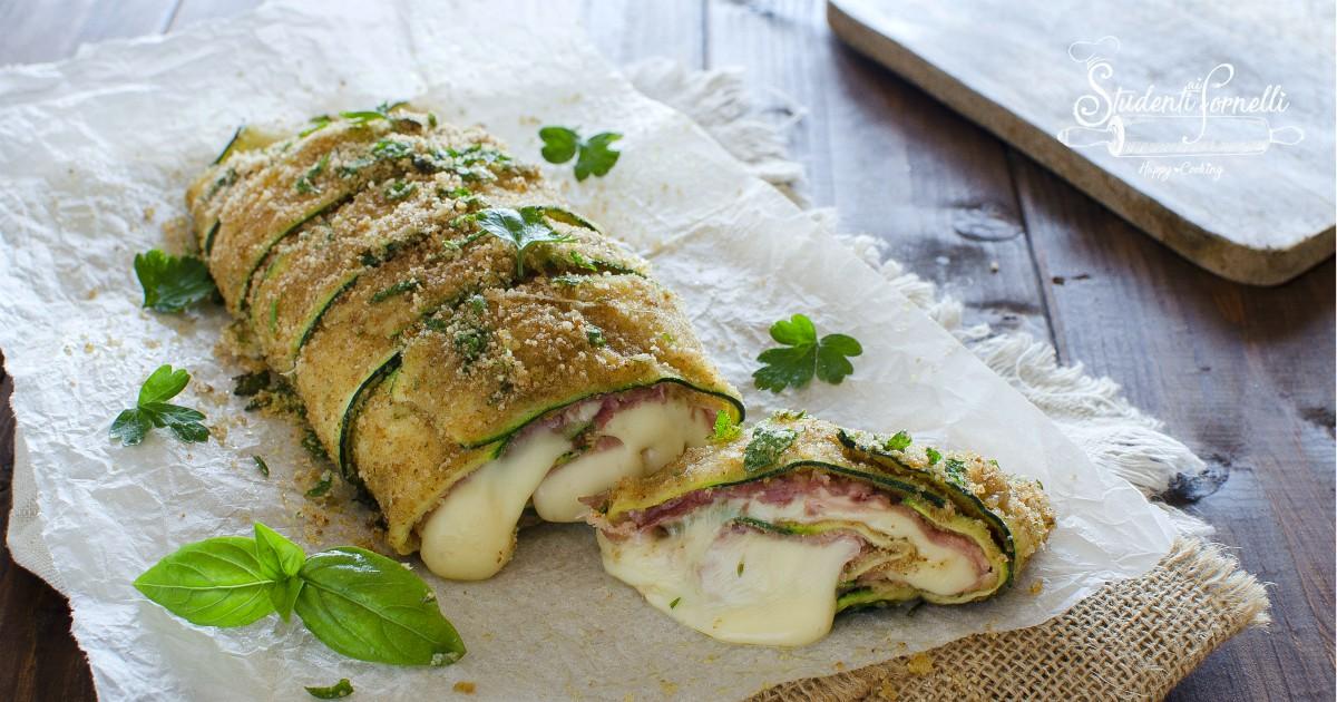 rotolo di zucchine formaggio e prosciutto fb