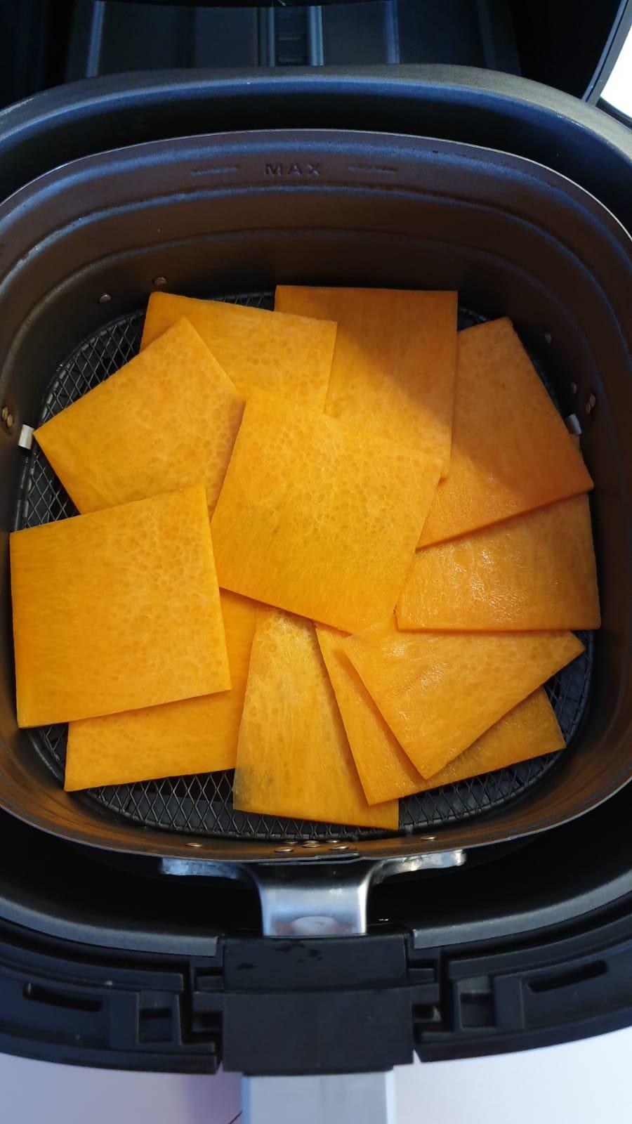 Zucca grigliata in friggitrice ad aria