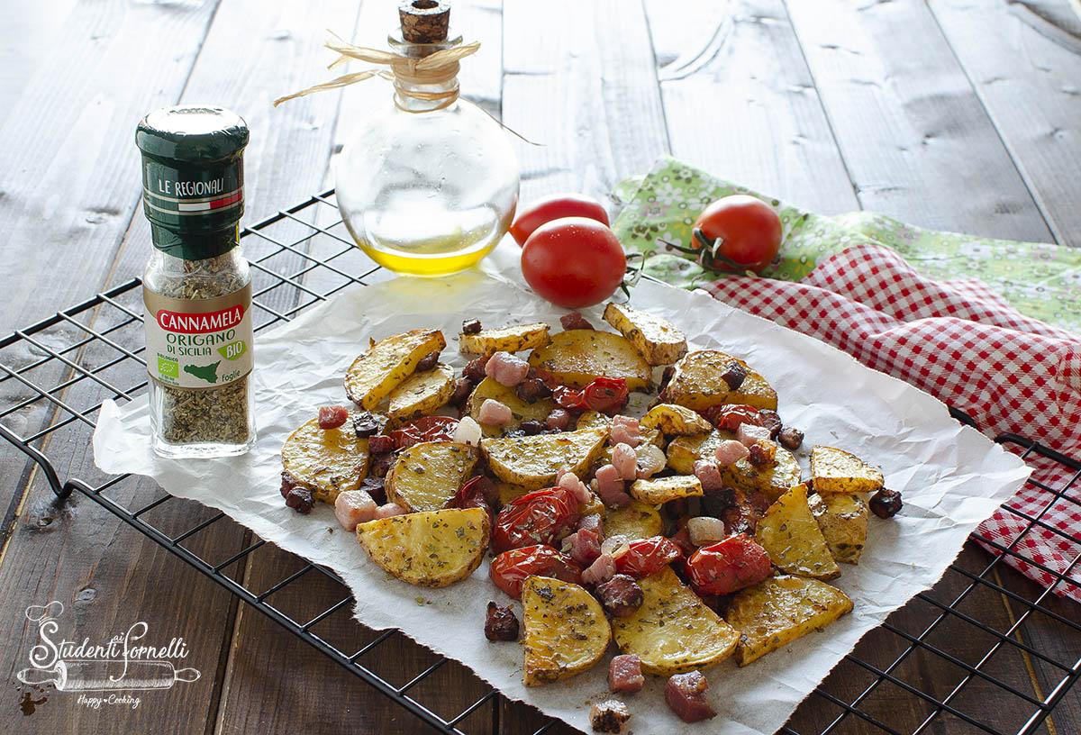 patate all'origano con speck e pomodorini 2
