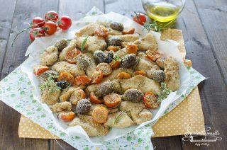 ricetta straccetti di pollo alla mediterranea olive pomodorini in friggitrice ad aria ricetta secondo