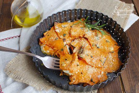zucca gratinata con mozzarella e parmigiano in friggitrice ad aria ricetta secondo