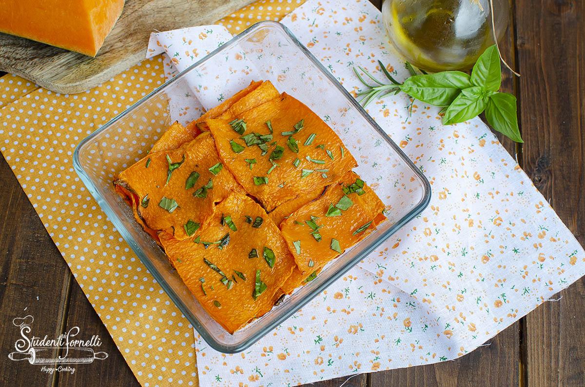 zucca grigliata in friggitrice ad aria contorno vegetariano
