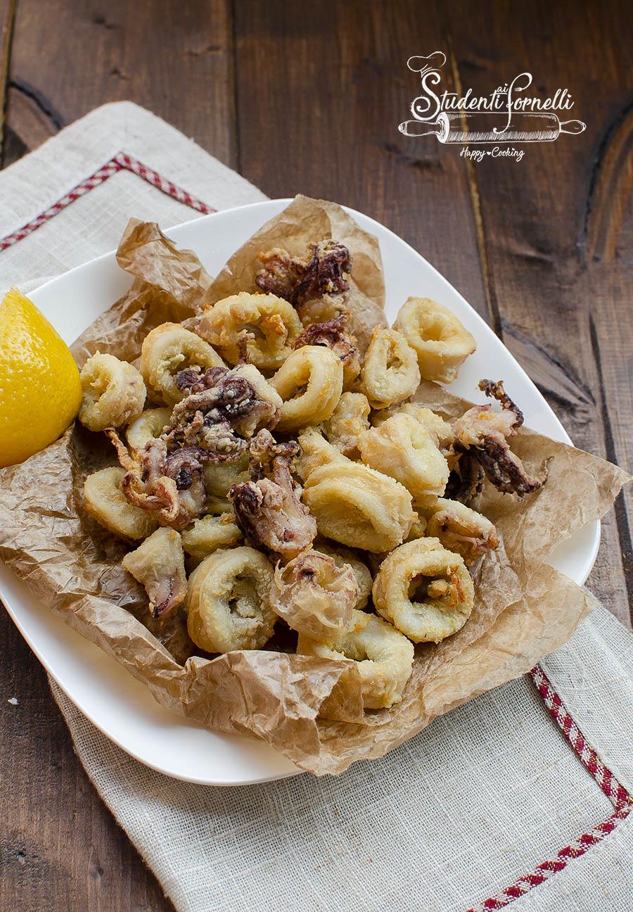 calamari in friggitrice ad aria come fritti con metodo furbo sani e light senza frittura ricetta pesce