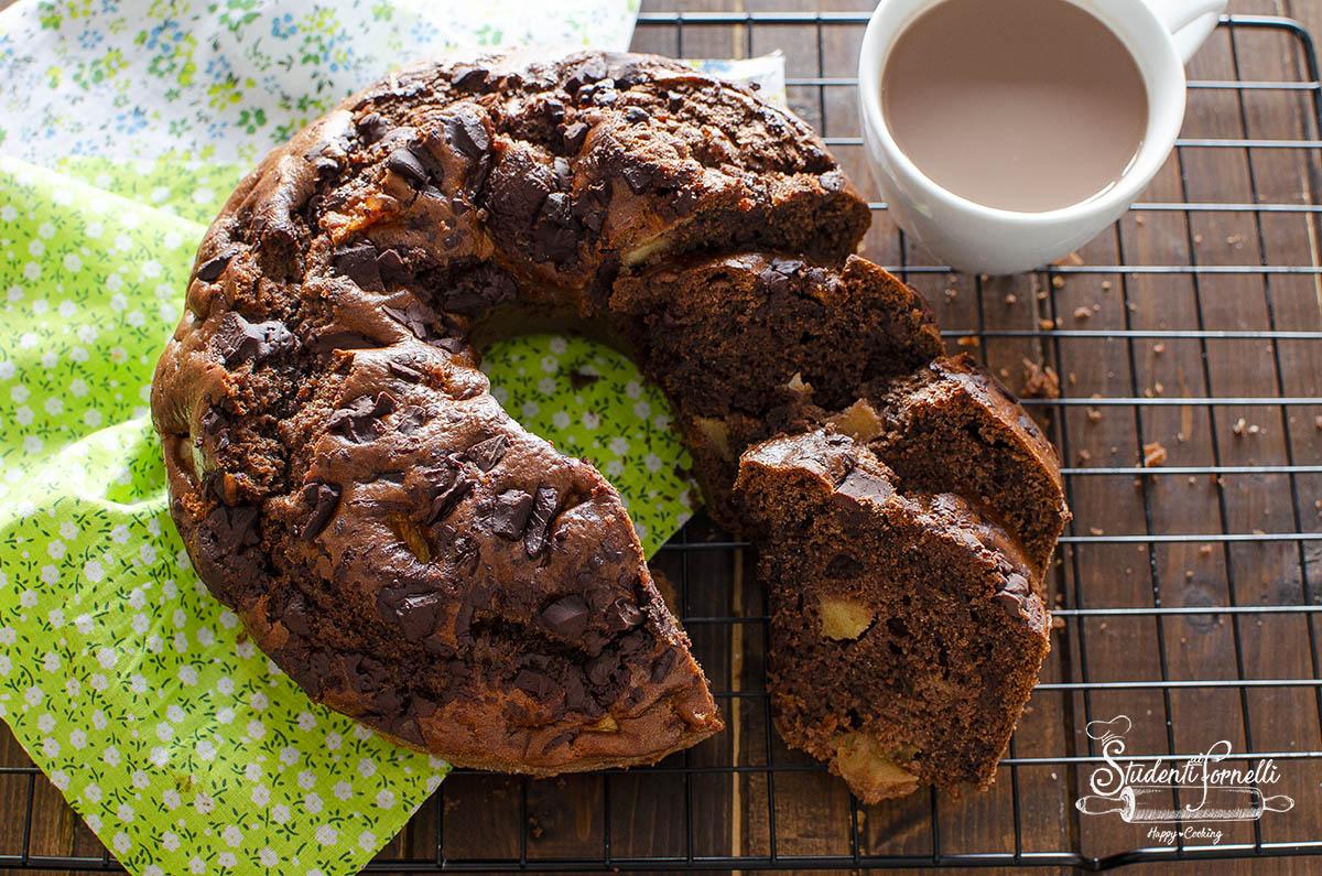 ciambellone cioccolato e pere philadelphia cotta in friggitrice ad aria ricetta senza burro