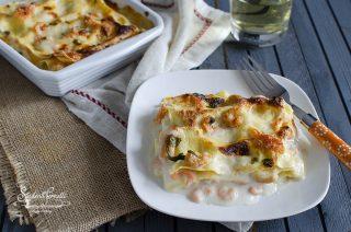 lasagne ai gamberetti e salmone ricetta lasagne di pesce primo 2