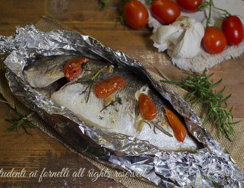 ORATA AL CARTOCCIO al FORNO con Pomodorini