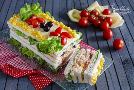 ricetta veloce MATTONELLA TRAMEZZINO senza cottura ricetta sandwich con tonno gamberetti ricetta antipasto