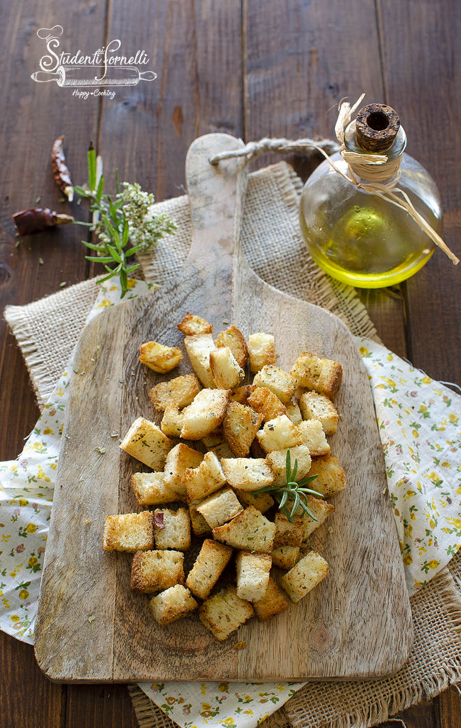 crostini per zuppe in friggitrice ad aria ricetta passo passo (1)