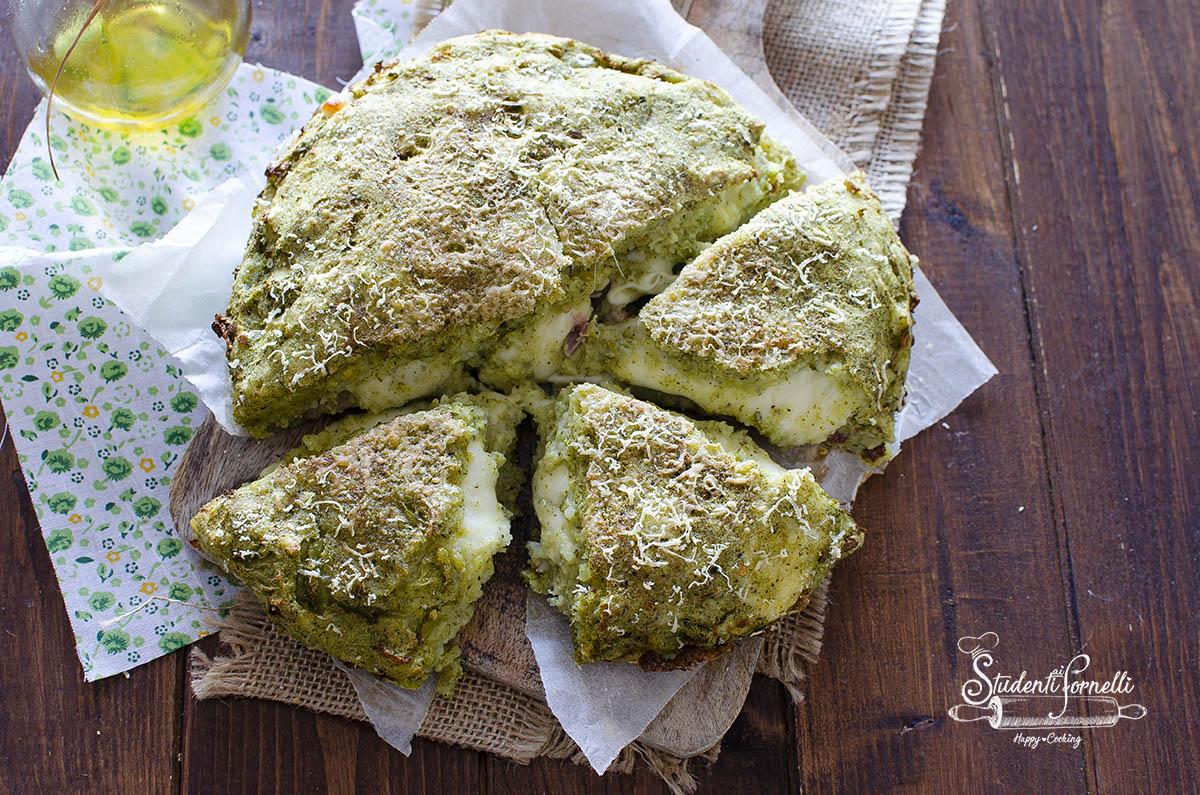 ricetta torta salata broccoli e patate speck e scamorza in friggitrice ad aria ricetta