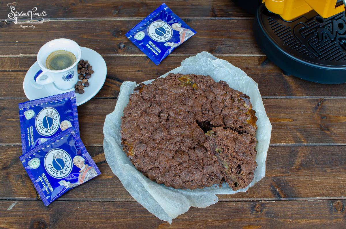 sbriciolata senza glutine cioccolato e caffè con crema ricetta dolce