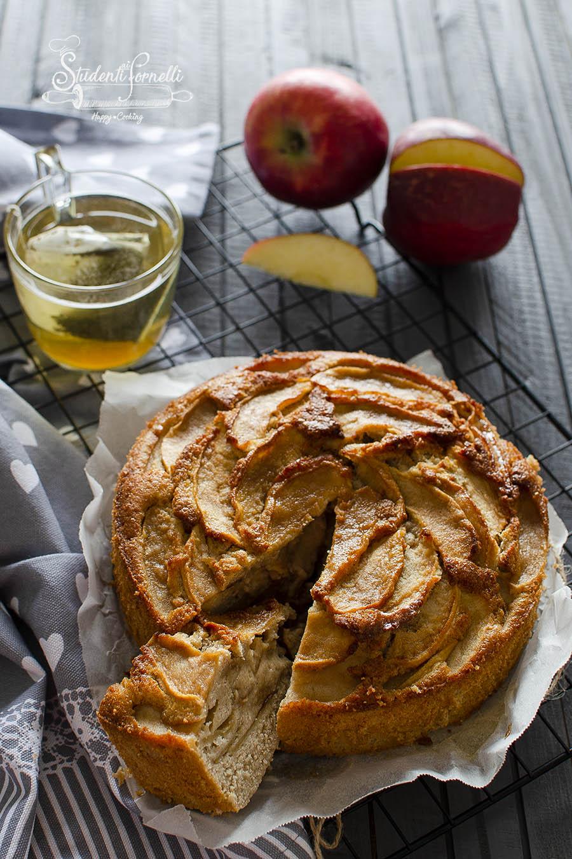 torta di mele rustica integrale ricetta dolce in friggitrice ad aria