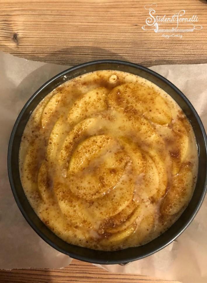 torta di mele invisibili ricetta dolce in friggitrice ad aria