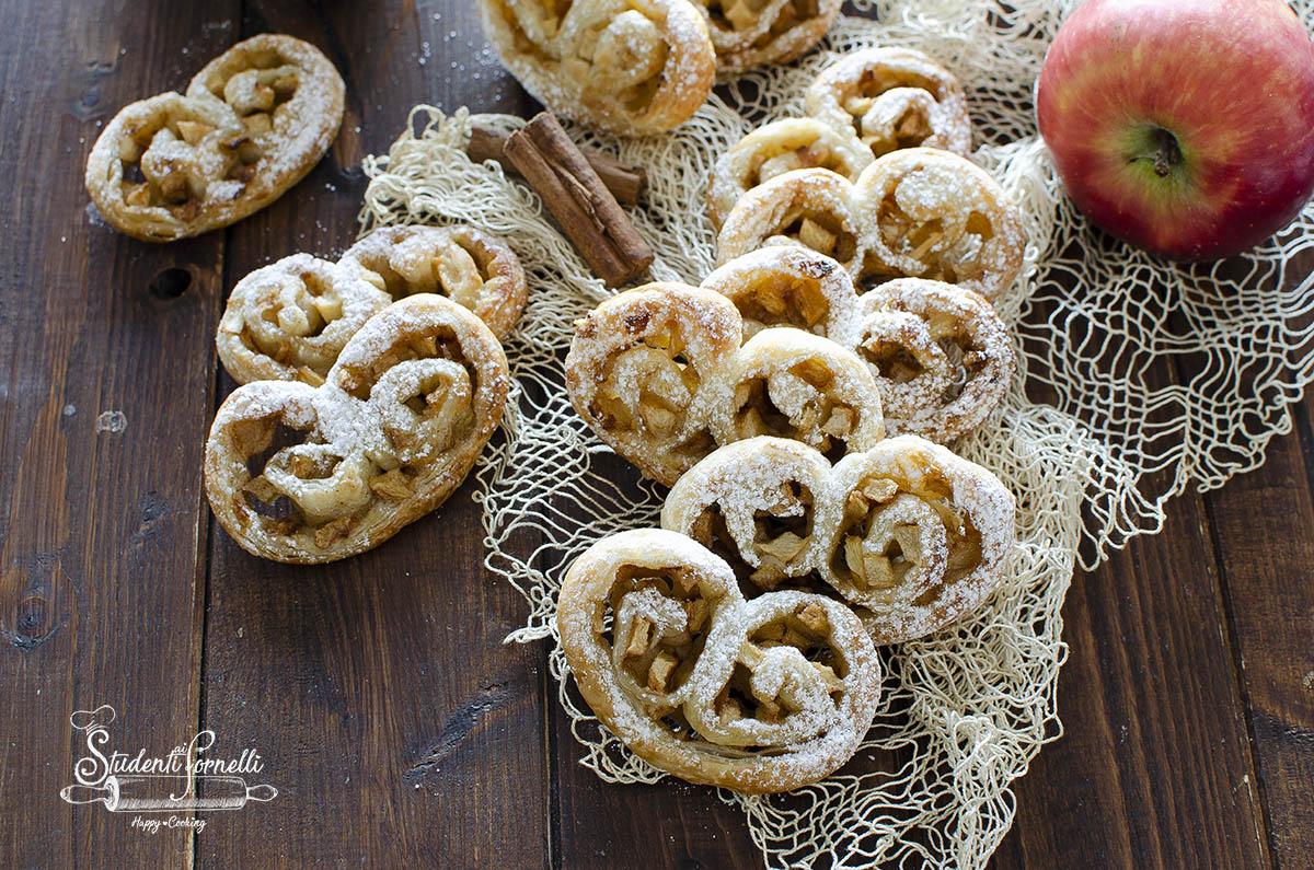 ventagli di sfoglia alle mele e cannella ricetta dolce 5 minuti