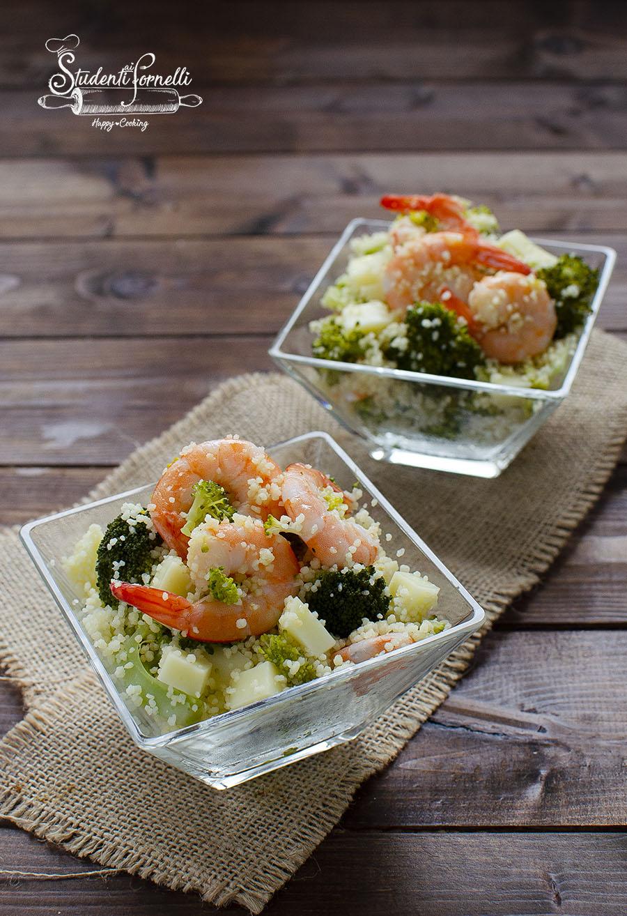 cous cous gamberi e broccoli e gamberi ricetta primo