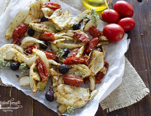 FINOCCHI AL PARMIGIANO con Pomodorini e Olive (in Friggitrice ad Aria)