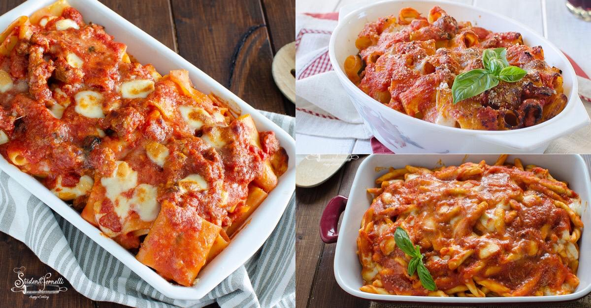 ricette di pasta al forno rossa al pomodoro sugo facili primi piatti