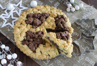 sbriciolata di natale alla nutella ricetta dolce natalizio ok