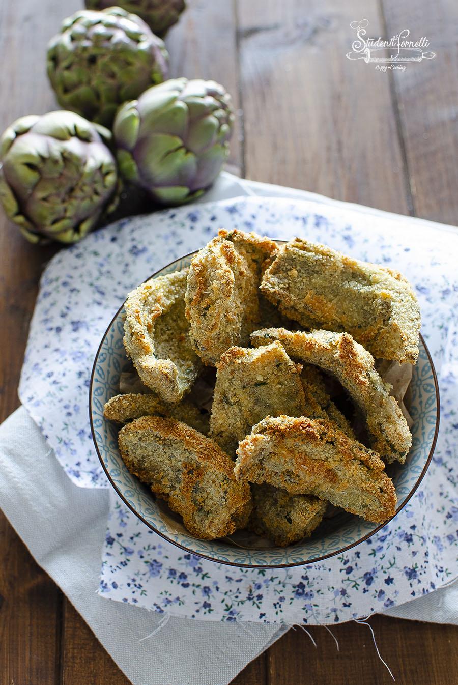 carciofi impanati in friggitrice ad aria ricetta fritti