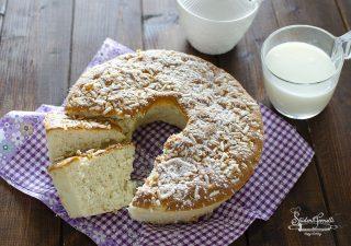 ciambella solo albumi e latte soffice ricetta fit per dieta dolce ciambella di albumi (2)