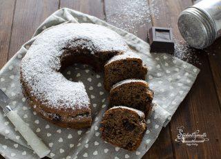 ciambella integrale al cioccolato ricetta dolce con farina integrale senza burro