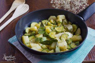 ricetta patate e zucchine in padella ricetta contorno saporito vegetariano