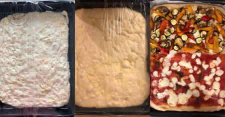 pizza senza impasto in ciotola lunga lievitazione poco lievito 5