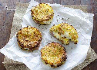 rosti di patate prosciutto e gorgonzola