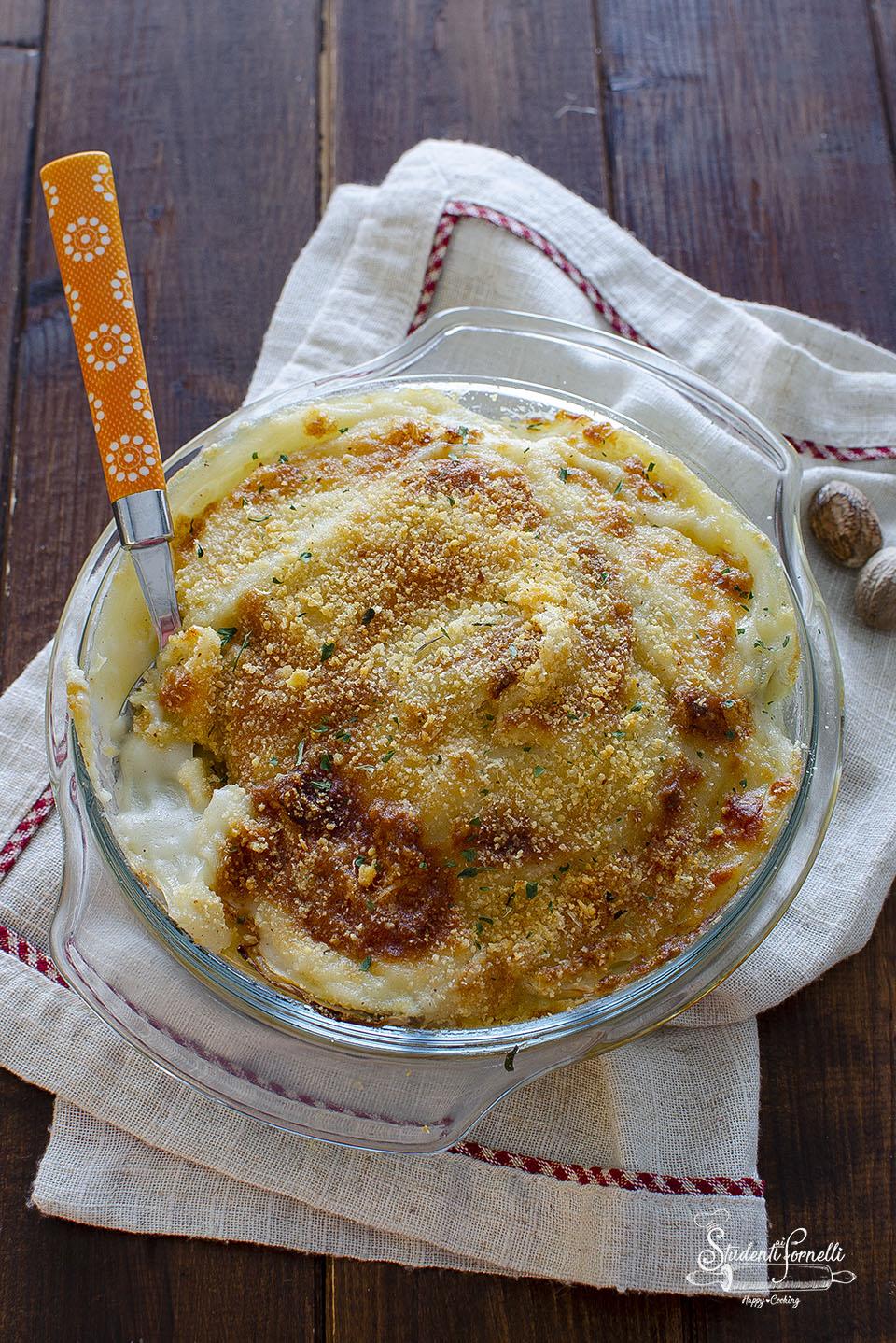 tortino di finocchi gratinati ricetta senza burro e latte