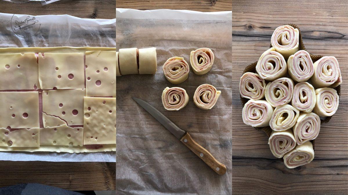 colomba di pasta sfoglia ricetta girelle farcite antipasto