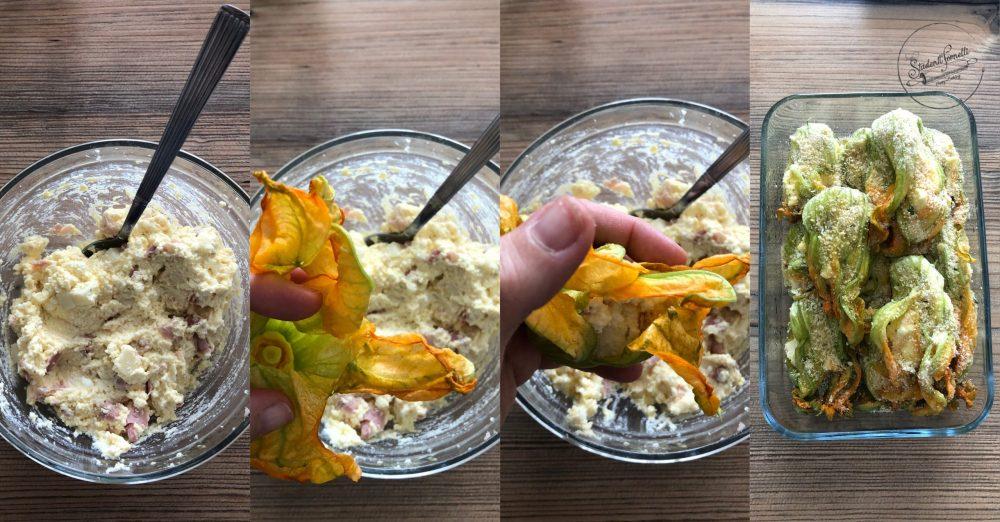 fiori di zucca ripieni al forno ripieni di ricotta ricetta secondo piatto