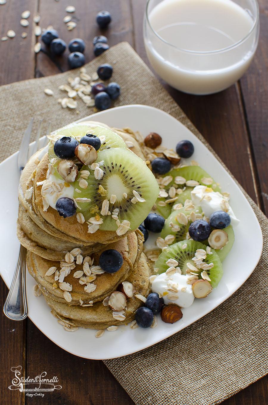 Ricetta Pancake Avena.Pancake Avena E Albumi Ricetta Light Senza Glutine E Lattosio