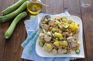 ricetta insalata di pollo zucchine prosicutto e patate ricetta piatto unico