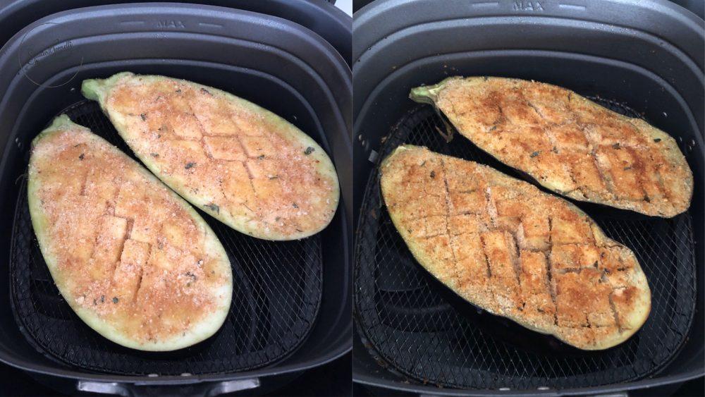 melanzane a scacchiera in friggitrice ad aria 2