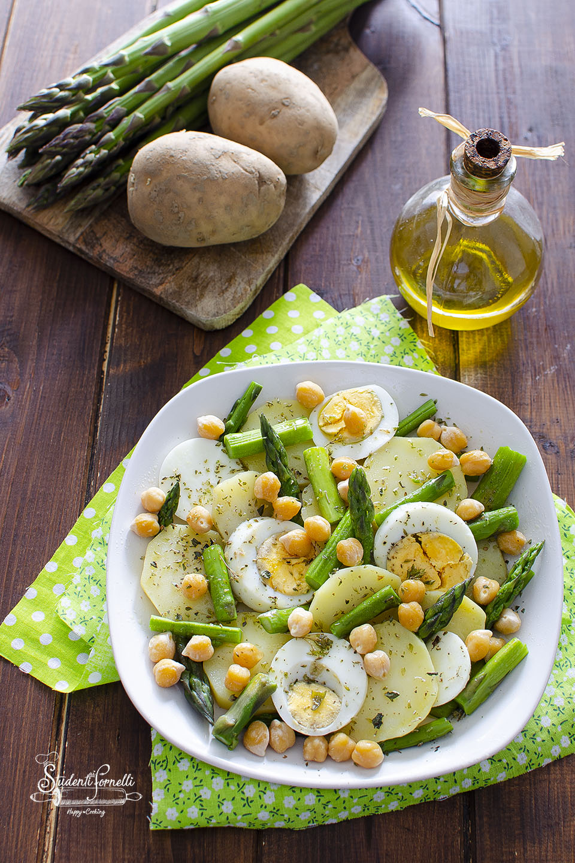 ricetta insalata di asparagi uova sode e patate ricetta piatto unico
