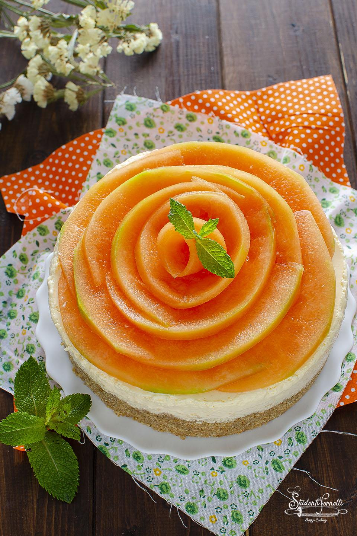 cheesecake al melone senza cottura ricetta dolce estivo