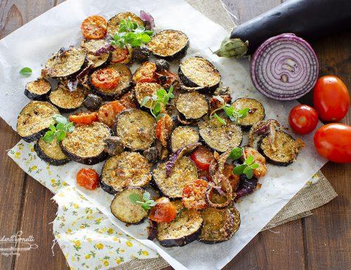 MELANZANE GRATINATE con Pomodorini e Cipolle