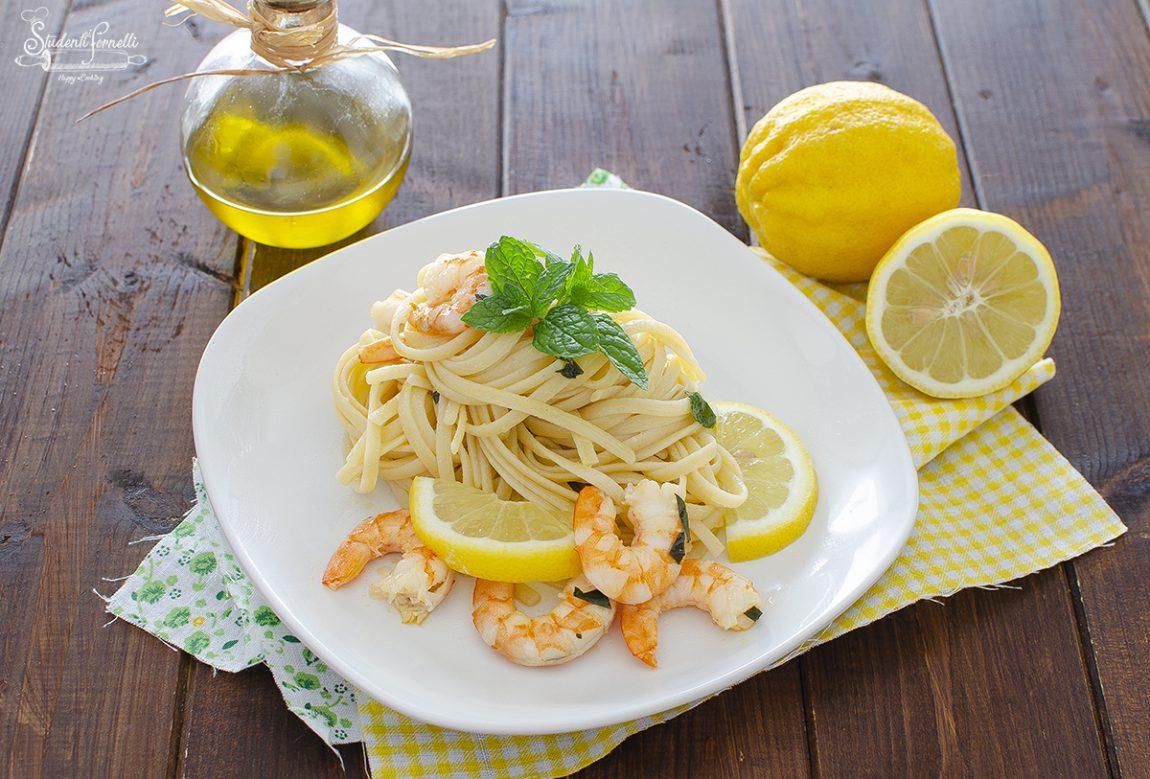 ricetta pasta gamberi e limone ricetta primo piatto