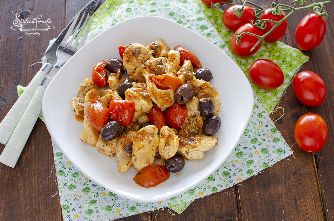 pollo alla mediterranea in padella ricetta secondo piatto