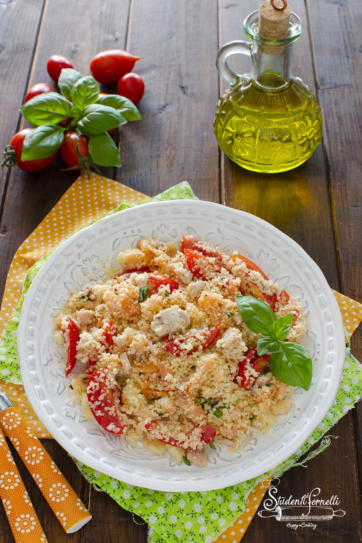 ricetta cous cous tonno e salmone tonno e pomodorini ricetta