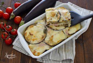 ricetta come fare tortino di melanzane e patate con prosciutto e formaggio ricetta
